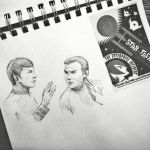 Spock and Kirk. Fast sketch by aquacobalamin