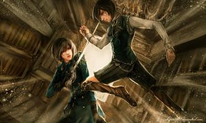 Akame and Acel by shizen1102