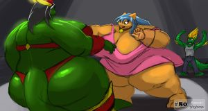 Sumo Sparring by Kazecat