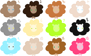 Free Sheep Adopts~! .:Closed:. by Arrestii