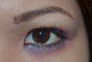 Dark Brown Eyes Sparkly Purple Lashes 5 by mimx-Stock