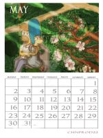 Simpsons Calendar May 2011 by ChnProd22
