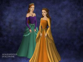 Queen Athena and Princess Attina. by Katharine-Elizabeth