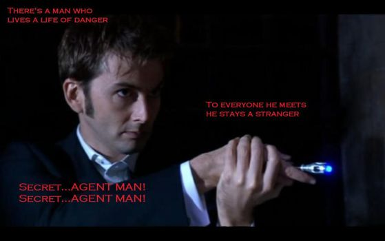Doctor Who Secret Agent Man by GahbrielVonHelsing