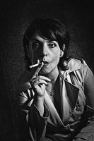 A woman with a cigarette by MarkScheider