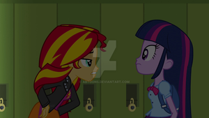 EQG - Twilight and Sunest by ABToons