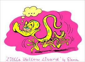 Yellow lizard by Ixentrick