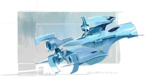 speed painting  spaceship by kyzylhum