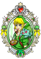 Link and Bulbasaur Tattoo by Miss-Cherry-Martini