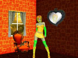 Tangerine Green Girl by VisualPoetress