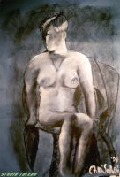Figure Drawing in Charcoal by studio-toledo