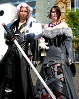 Lulu and Sephiroth by EileenGalvin
