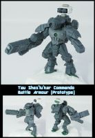 Tau Commando Battle Armour by Proiteus
