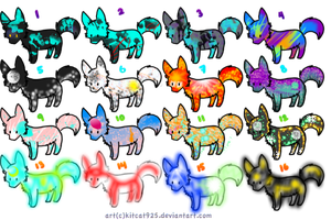 Wolf adoptables -1 point each- Open!- by ACs-adoptables