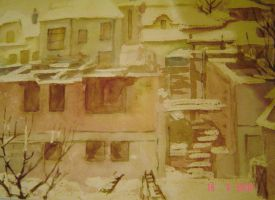 Winter without roof over by Baykusha