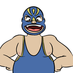 Chubby Luchador by vodkaffee