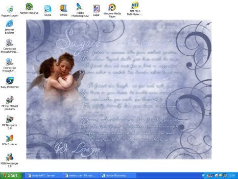 My curret desktop by Jas-min