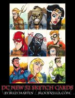 DC NEW 52 Sketch Card Teaser by Bloodzilla-Billy