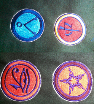 Stargate themed badges by lokiie1984