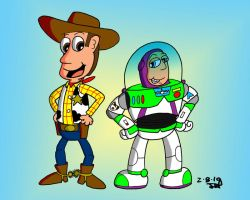 Woody and Buzz by JimmyCartoonist