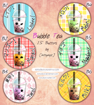 [Buttons] Bubble Tea by kittyalyst