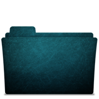 Folder-icon Scratched Blue 1 by TylerGemini