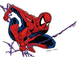 Spidey coloured by stuse
