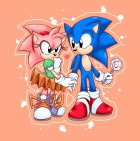 Sonic Y Amy Classic by candycandy-chan