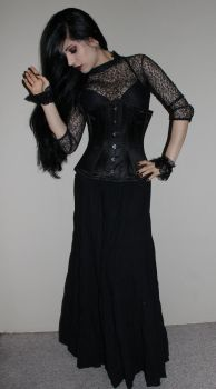 Stock - Gothic - Lady In Black by Mahafsoun
