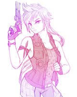 Prompto FFXV - Sketch Trade by bloominglove