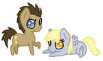 Chibi Doctor and Derpy by BlizzardIceFox