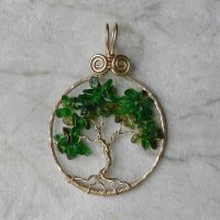 Tourmaline and Chrome Diopside Tree by magpie-poet