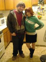 Scott Pilgrim and Kim Pine Cos by QuestionofBalance
