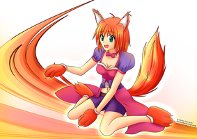 Fox Women (For Loukia) by KurisuWS