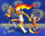 Chinese New Year 2016: Year of the Fire Monkey by Bluekiss131
