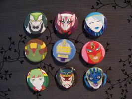Buttons: Tiger and Bunny by Quatrina