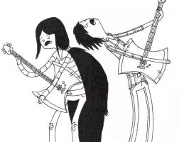 Marceline and Marshall Lee by Murderer-In-Training