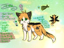 2013 Jenna Ref Sheet by Applethecat13