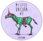 ICKY the unicorn by LadyDeuce