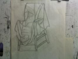 Chair with a Sheet over it WIP by SeeMooreDesigns