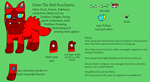 Drew The Red Poochyena 2014 reference sheet by DrewTheRedPoochyena