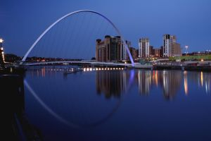 Millennium Bridge at night by GailJohnson