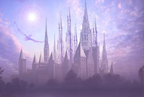 An elven castle 2 by edarlein