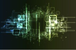 Abstract hi-tech background by bazaardesigns