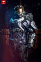 Master Chief (Halo 4) at The ACG Ball by Old-Trenchy