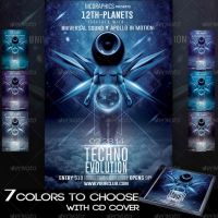 Techno Evolution Flyer Template by MCerickson
