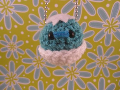 Blue Hatching Chick Keychain by AmiTownCreatures