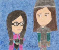 Evangelina and Jack as Anna and Kristoff by daisyplayer1