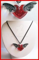 Winged Heart Necklace 2 by cherryboop