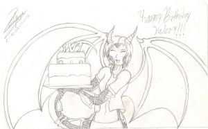 Delifelis cumple Valery by Isaac-Silver-Dragon